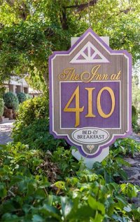 The Inn at 410 Sign