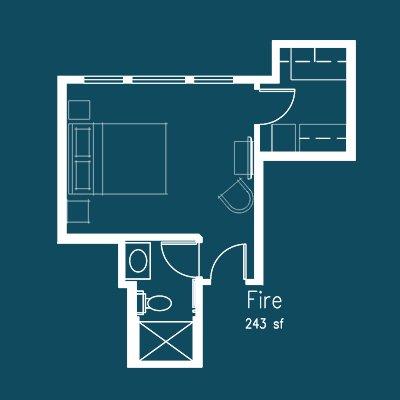 fire room floor plan at Le Puy Inn in Newberg, Oregon