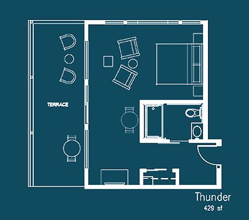 Thunder floor plan at Le Puy Inn in Newberg, Oregon