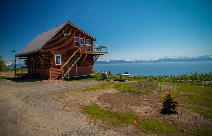 Glacier View Log Cabin at Alaska Adventure Cabins in Homer, AK