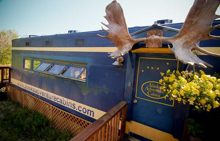 Moose Caboose at Alaska Adventure Cabins in Homer, AK