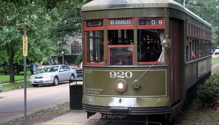 A trolley car