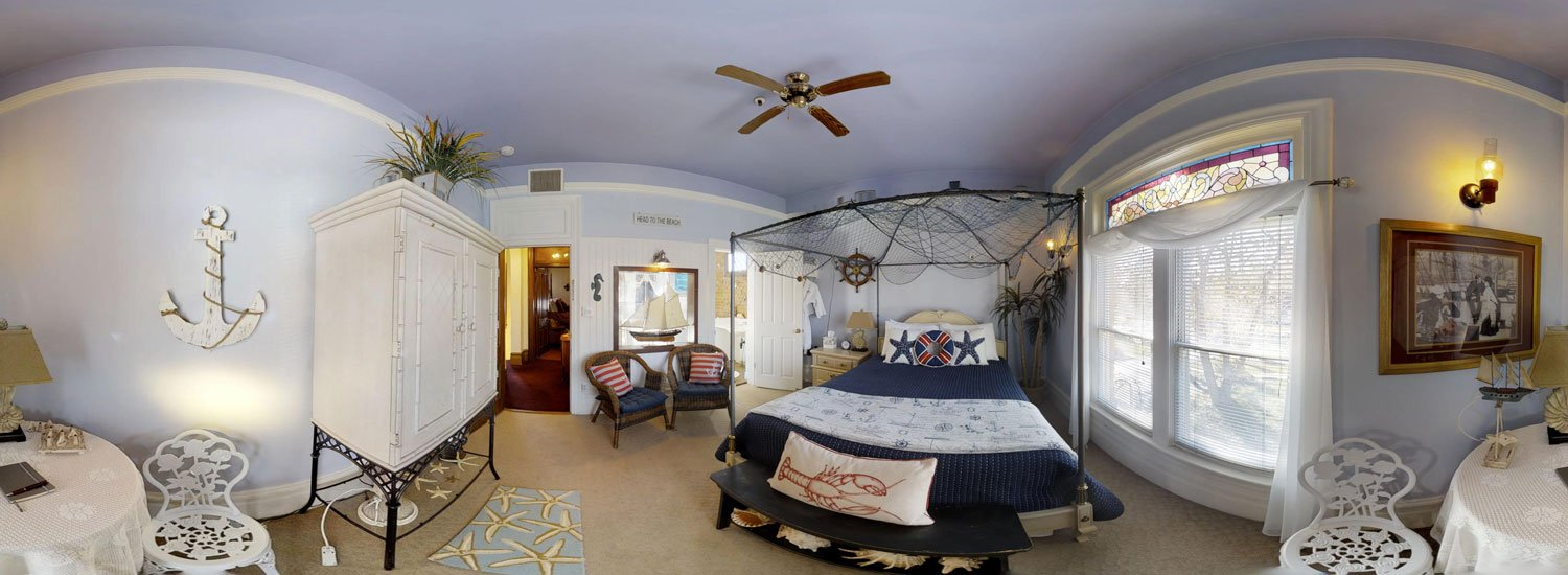 Seaside Retreat Room with bed and table