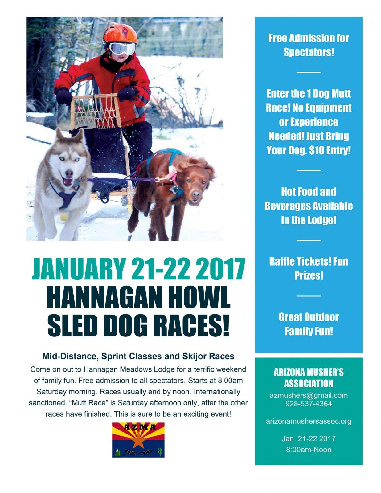 Hannagan Howl Sled Dog Races January 2017