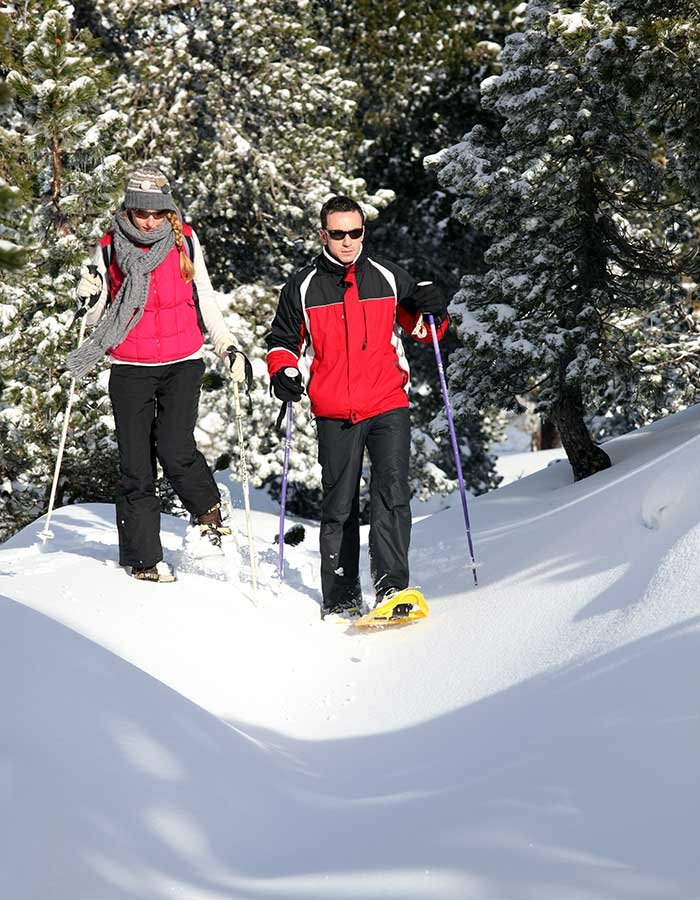 Snowshoeing at Hannagan Meadow Lodge in Alpine, AZ