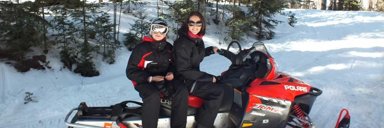 Snowmobiling at Hannagan Meadow Lodge in Alpine, AZ