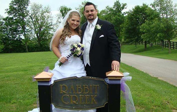 Weddings at Rabbit Creek Inn in Versailles, KY