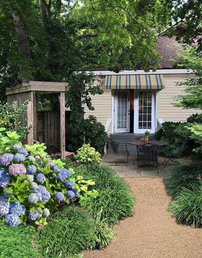 Hayward garden entrance & Hydrangeas