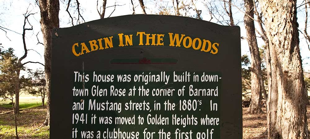 Cabin In The Woods Fossil Rim Tx Lodging Country