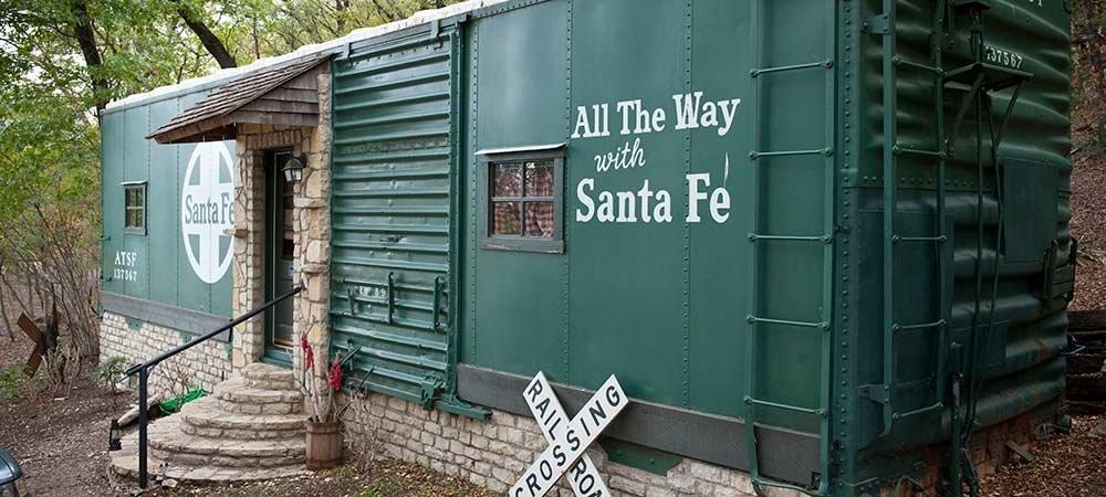 Santa Fe Railroad Car Fossil Rim Tx Lodging Country