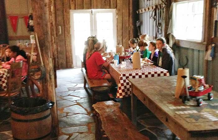 meal at at Country Woods Inn in Glen Rose TX