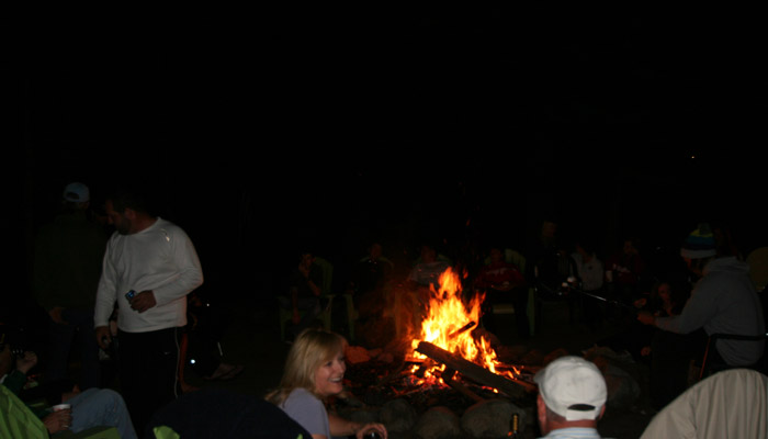 People around a fire