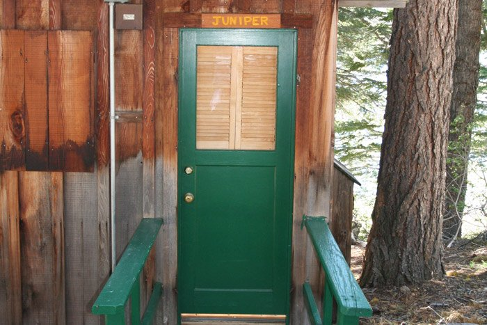 Door to a cabin