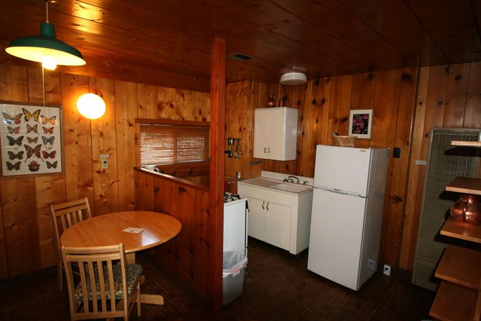 A cabin kitchen