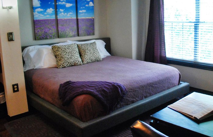 Lavender Suite at Whispering Pines Inn in Norman Oklahoma