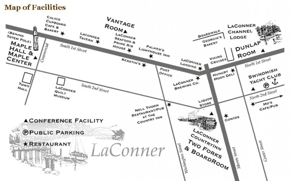 Map of La Conner Country Inn, La Conner, Washington Facilities