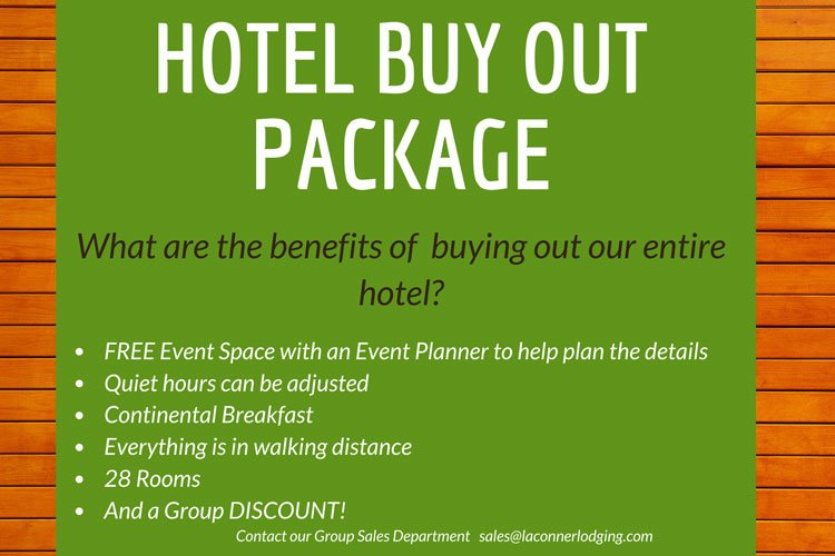 Hotel Buy Out Package