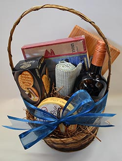 Wine, Cheese, and Bread Basket Enhance your stay package at the La Conner Inn in La Conner, Washington