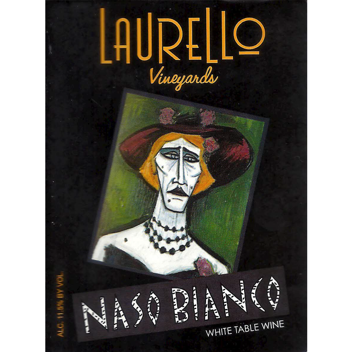 Naso Bianco wine at Laurello Vineyards