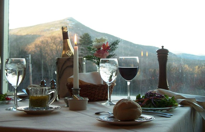 Dinner with a view at the Darby Field Inn, near North Conway, New Hampshire