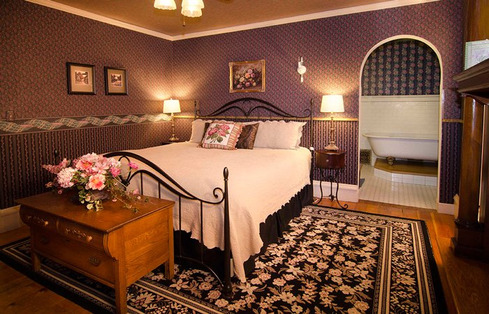 Queen Anne's Suite at the Phipps Inn Bed and Breakfast in Hudson, Wisconsin