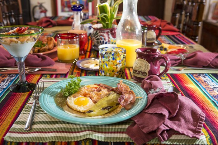 Breakfast at Hacienda del Sol in Taos, NM