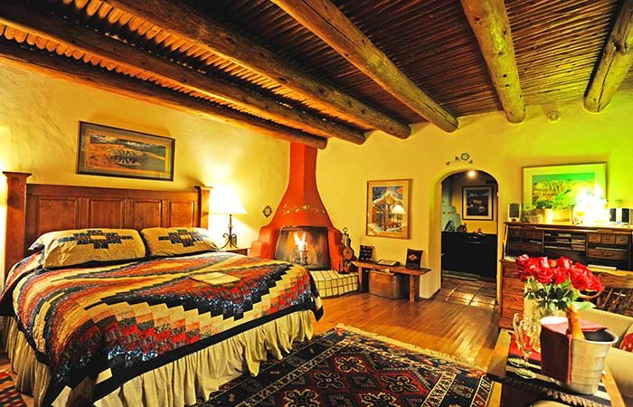 Rooms at Hacienda del Sol in Taos, NM
