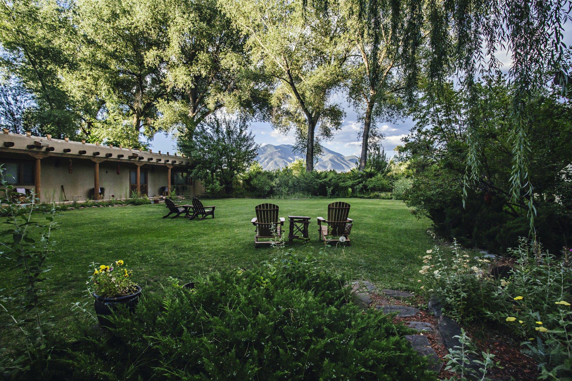 Adobe room at Hacienda del Sol in Taos, NM