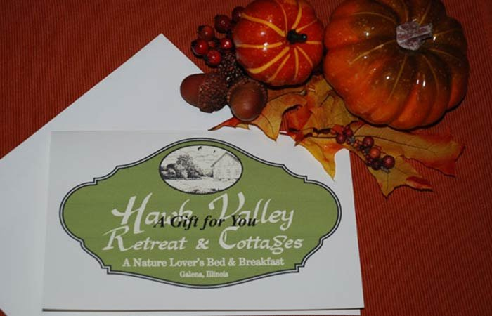 Gift Certificates at Hawk Valley Retreat