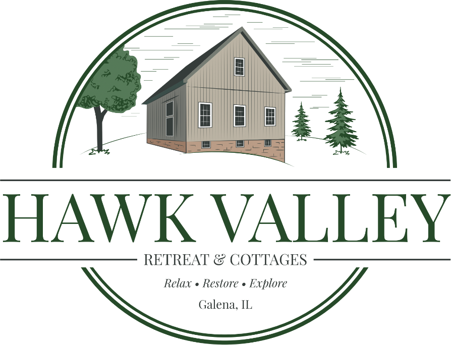 Hawk Valley Retreat and Cottages, A nature lover's Bed & Breakfast, Galena Illinois