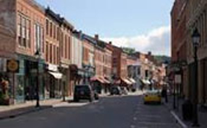Main street in downtown Galena