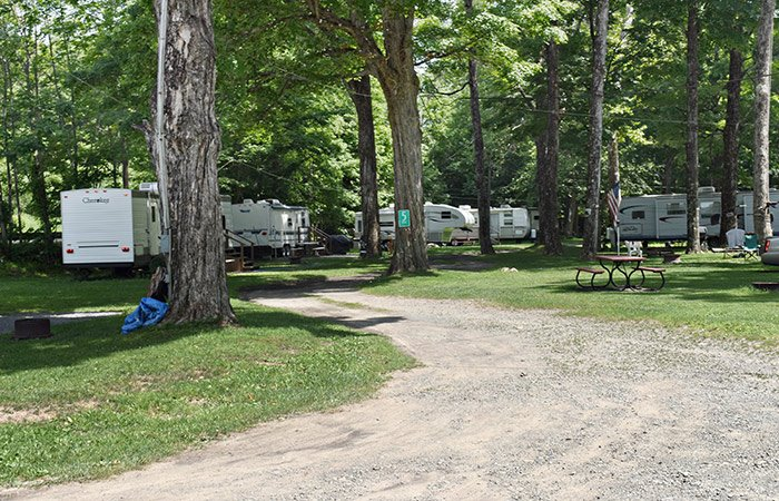 Camp Sites at Butternut Campground in Roscoe, NY