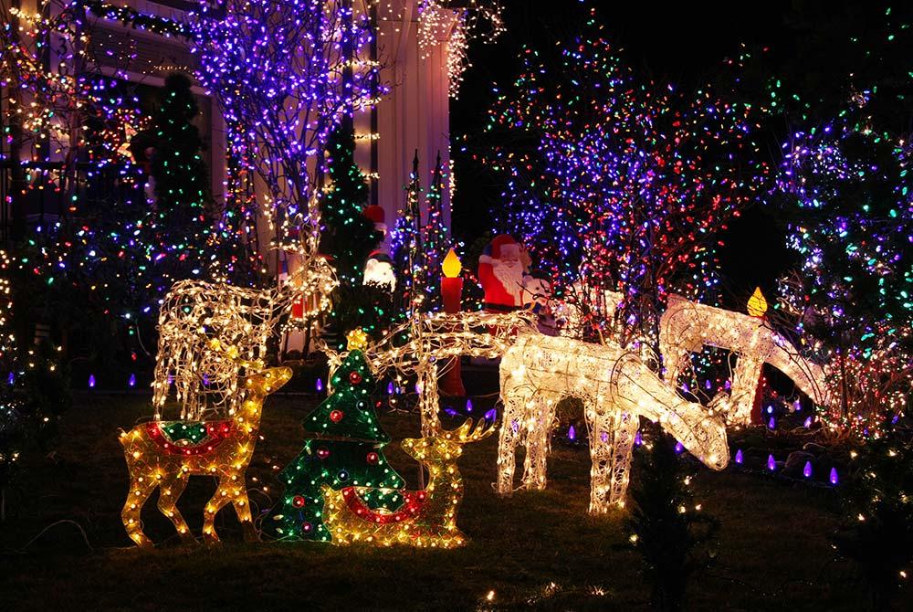 Christmas decor with lights
