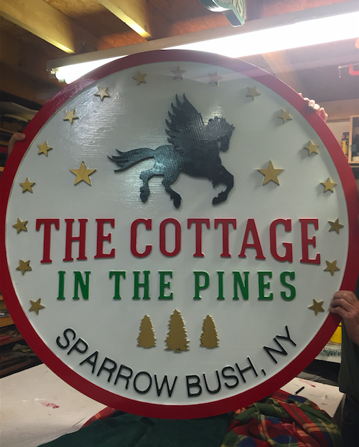 Sign for The Cottage in the Pines