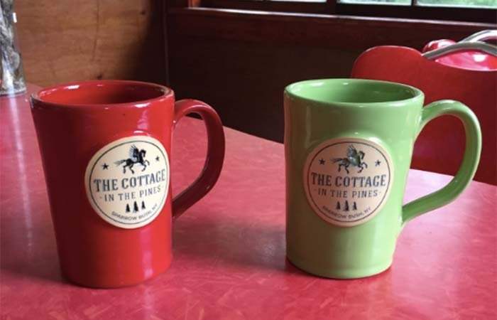 Mug special at the Cottage in the Pines in Sparrow Bush, New York
