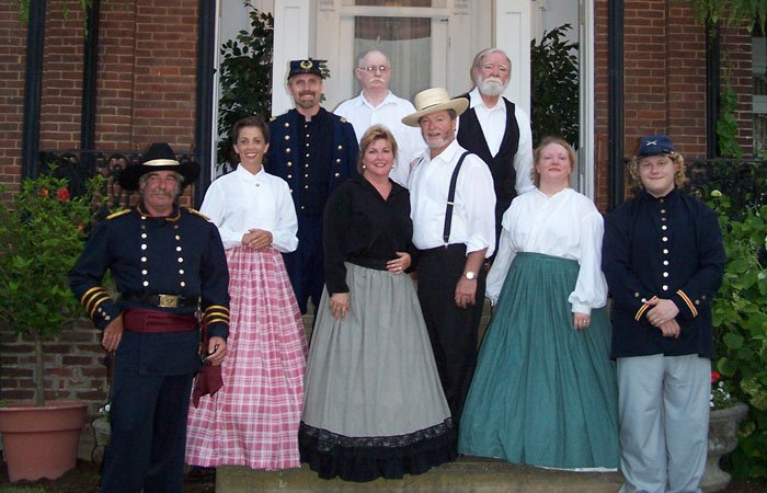 Winery staff in period clothing