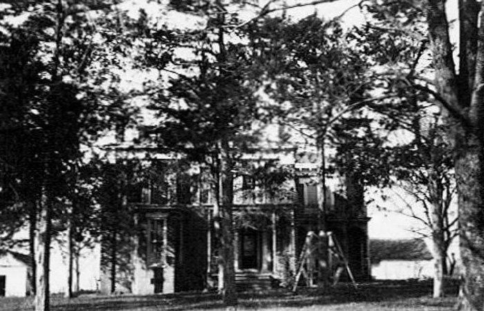historical exterior photo of the plantation