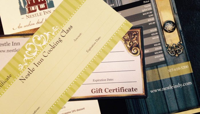 Gift Certificates at Indianapolis, IN