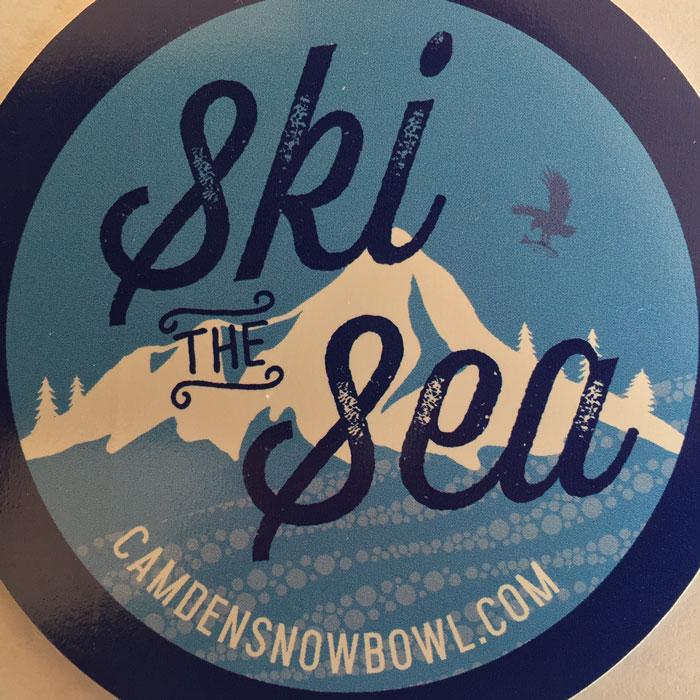 insignia saying Ski The Sea camdensnowbowl.com