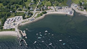 Aireal view of Lincolnville, ME