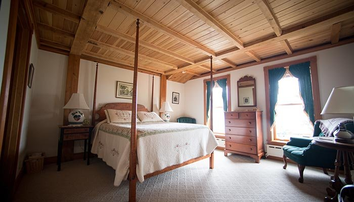 Guest Room at Spouter Inn in Lincolnville Beach, Maine