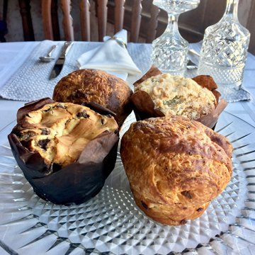 muffins and croissant cups from DeEtta's Bakery