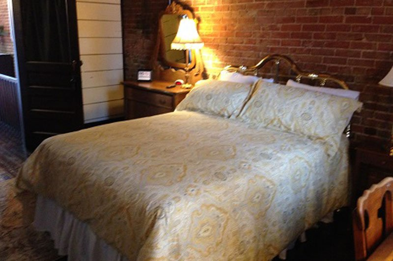 The Guest Bedroom in the Market Loft at the Inn at Piggott