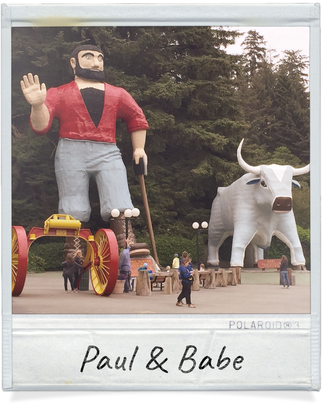 Paul Bunyan and Babe giant statues