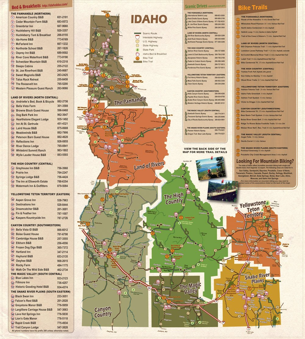 idaho bike map