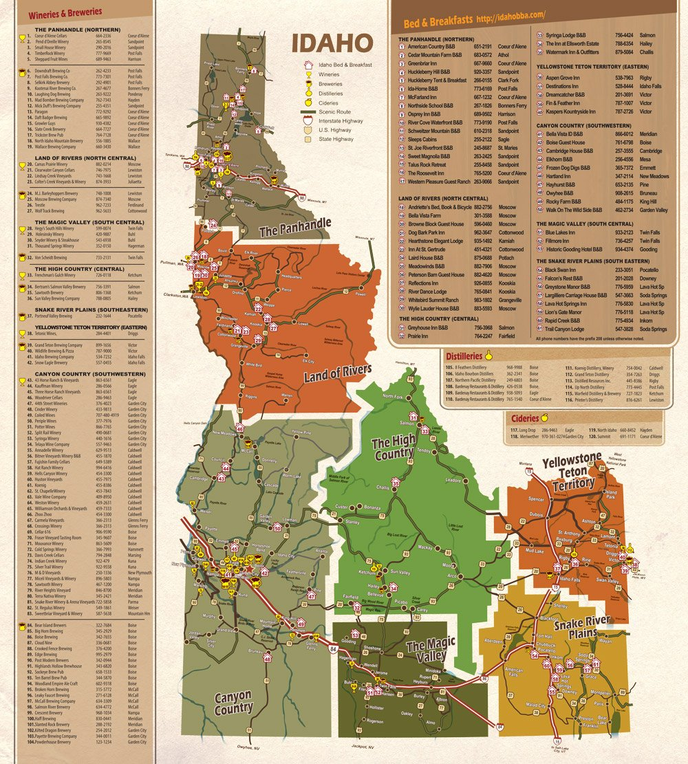 idaho wine map