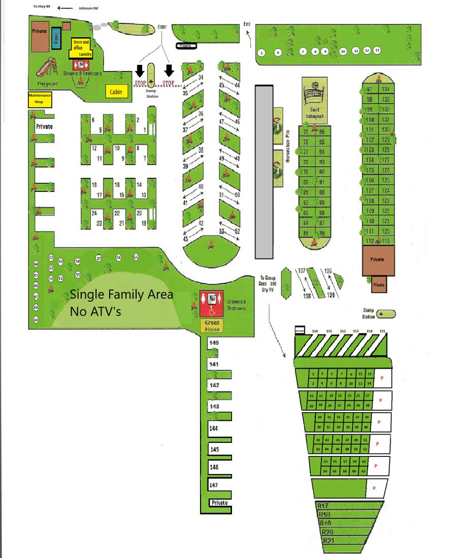 Campground Map Manti Ut Campground Temple Hill Resort