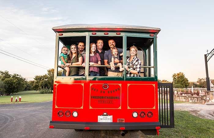 Charter a Trolley in Fredericksburg, TX