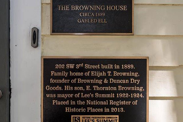 History of Browning B&B in Lee's Summit, MO