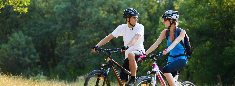 Biking at the Inn at Defiance in Defiance, Missouri